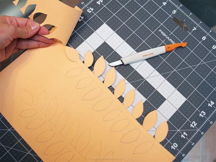 Bouquet printanier en papier -Découper les plantes en papier