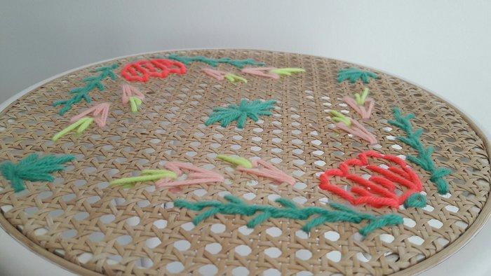 Tabouret Flower Power !-Trouver une place à votre tabouret !