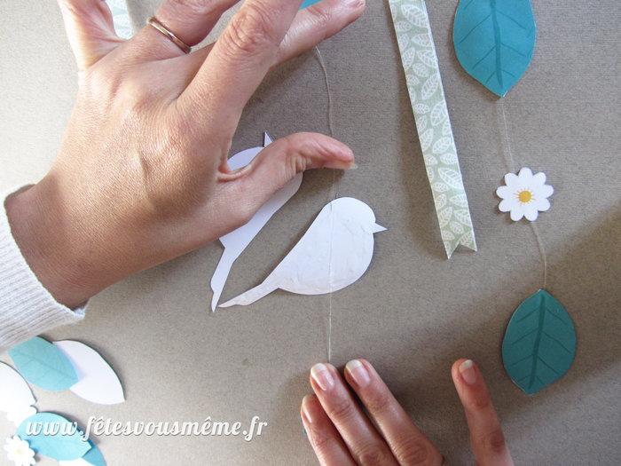 """Mobile pour enfant """"Printemps""""-Montage des figurines"""