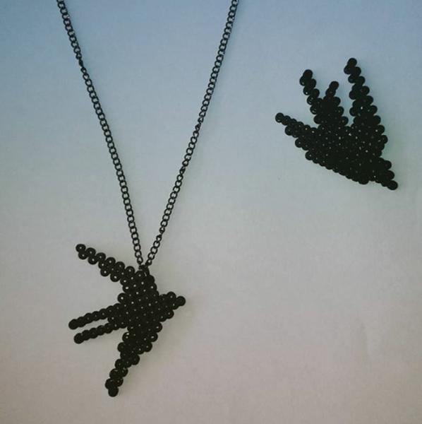 DIY : un collier printanier !-Montage du pendentif