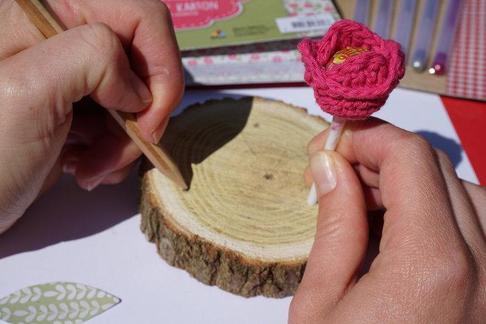 Mini-sucettes tulipes-Fabriquez votre support en bois