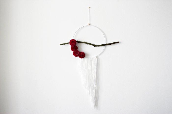 Un attrape-rêve fleuri-Le résultat
