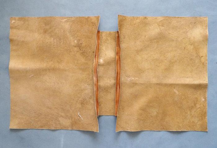 Réalisation d'un sac en cuir XXL -Assemblage du sac
