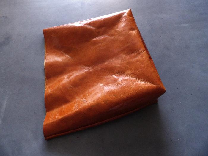 Réalisation d'un sac en cuir XXL -Réalisation des anses