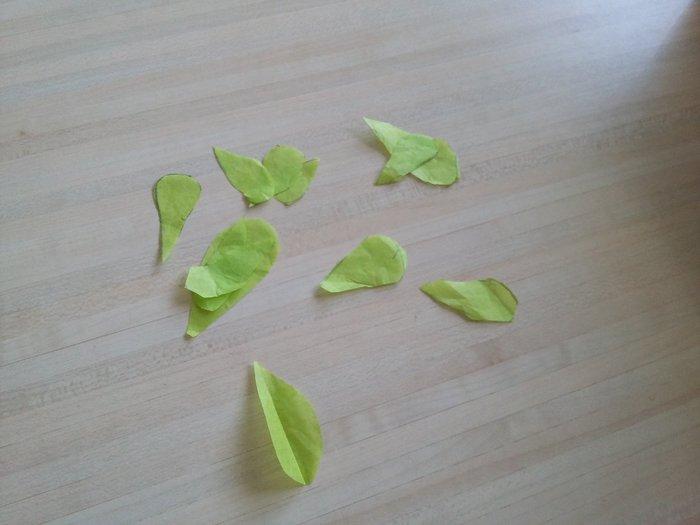 L'arbre de printemps-Réalisation des feuilles