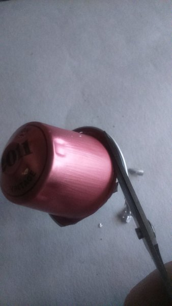 Boucles d'oreilles en capsule recyclée-Préparation des capsulses nespresso