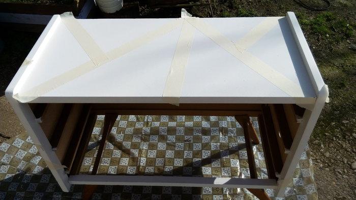 Customisation d'un commode en osier-Délimitation des triangles
