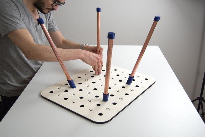 Plug and Make-préparation des pièces du mode table basse