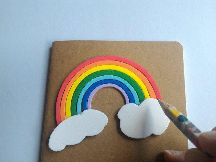 Carnet Rainbow-Ajustez la taille des arcs aux nuages
