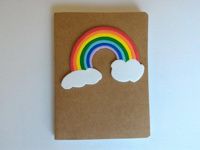Carnet Rainbow-Coller l'arc en ciel