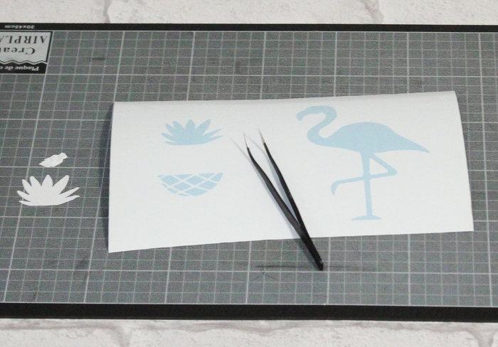 Impression textile sur affiche Gold Tropic #CocoCrea2-Les pochoirs