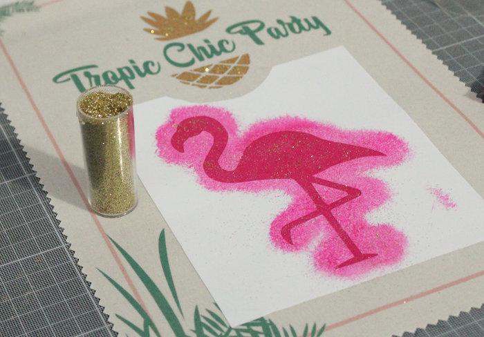 Impression textile sur affiche Gold Tropic #CocoCrea2-La peinture