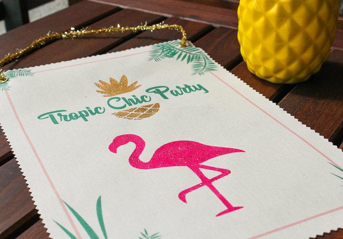 Impression textile sur affiche Gold Tropic #CocoCrea2-Le résultat