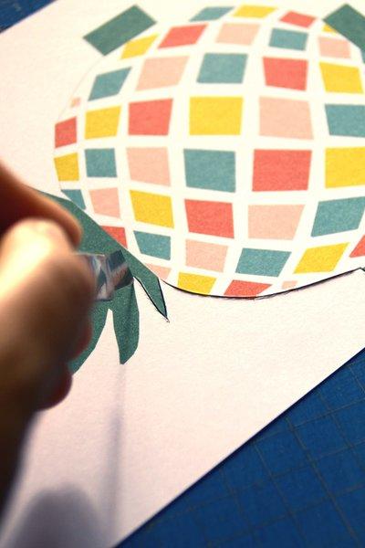 Carte d'invitation Tropic Chic Party - #CocoCrea1-Préparation du fichier à imprimer (ananas et textes)