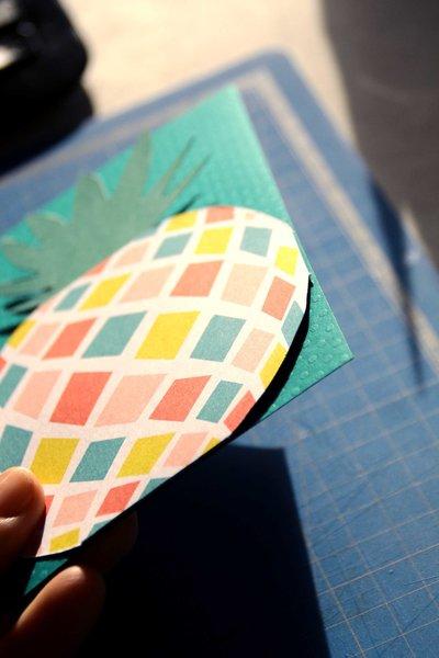 Carte d'invitation Tropic Chic Party - #CocoCrea1-Préparation de la pochette