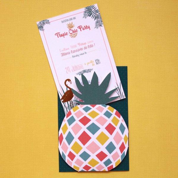 Carte d'invitation Tropic Chic Party - #CocoCrea1-Le carton d'invitation