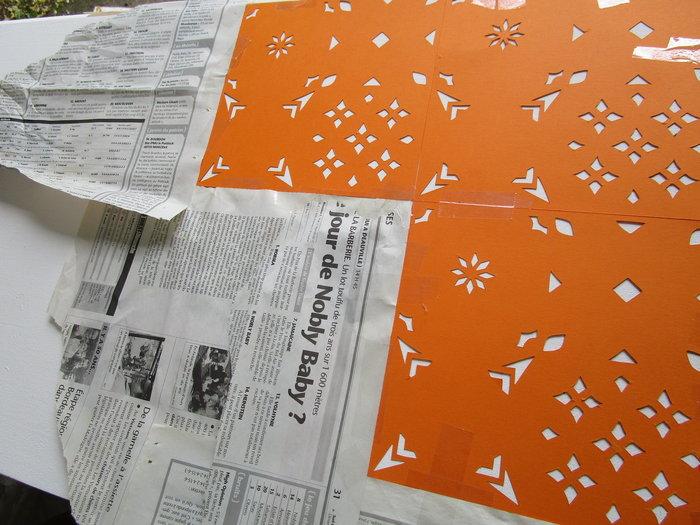 DIY : Rénovation d'un vaisselier avec pochoirs et peintures rétro-Peinture au spray