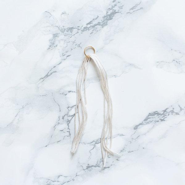 Bijoux : un pendentif marbré !-Création du pompon