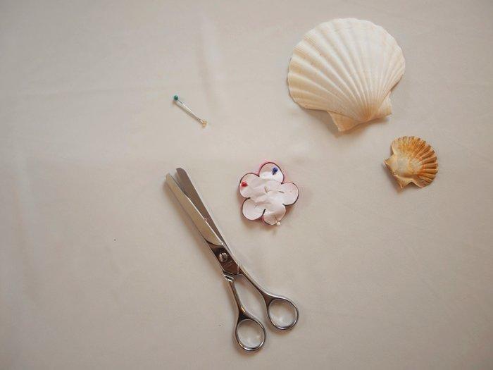 Collier de fleurs en tissu #CocoCrea3-Création des fleurs