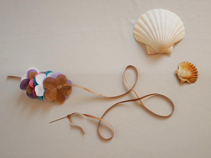 Collier de fleurs en tissu #CocoCrea3-Monter le collier