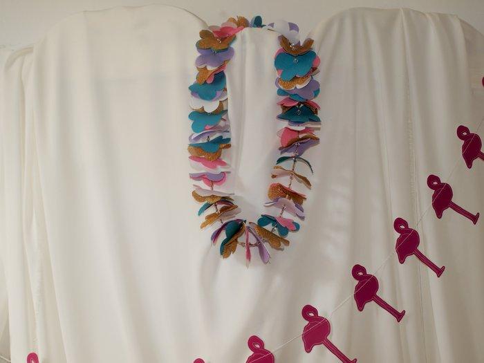 Collier de fleurs en tissu #CocoCrea3-Le résultat