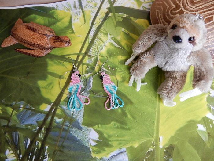 DIY : créoles et perroquet tropical-c'est fini !