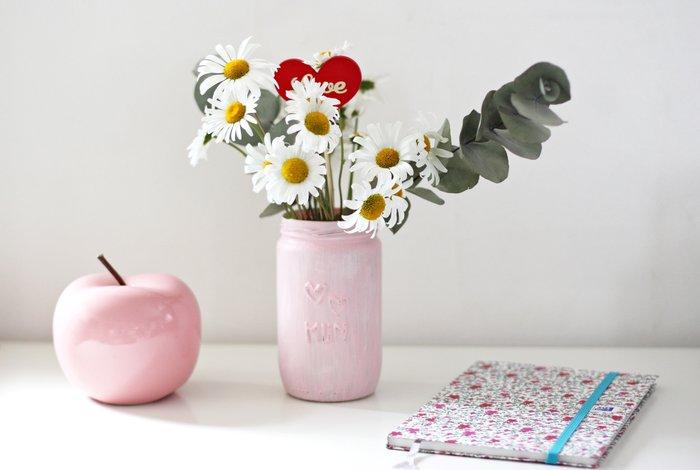 DIY fête des mères : un pot de fleurs effet patiné-Le rendu