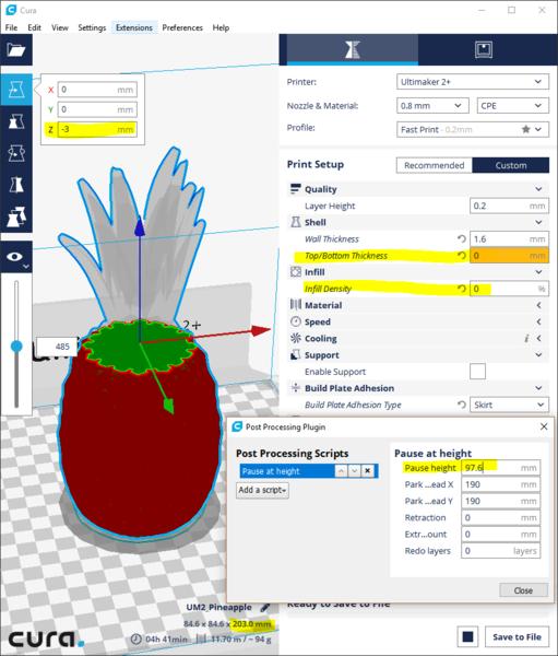 Ananas 3D lumineux #CocoCrea19 -Préparer les fichiers