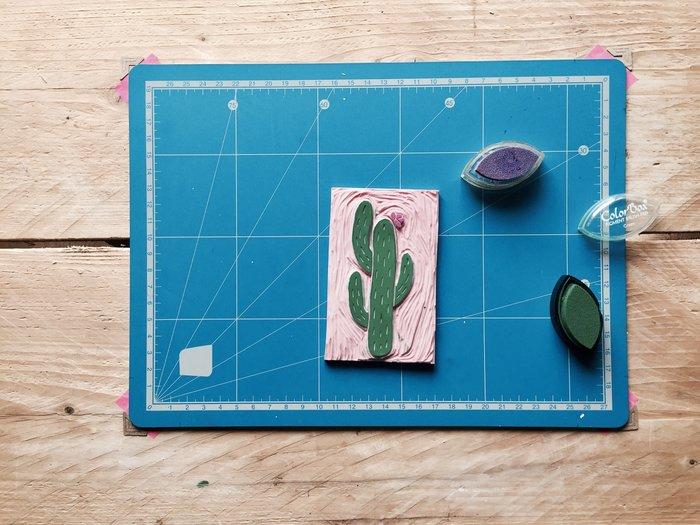 DIY : Un totebag à imprime cactus avec un tampon encreur fait maison-Impression sur totebag
