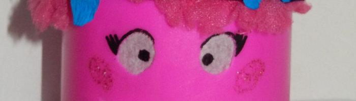 DIY Retour en enfance : Veilleuse Princesse Poppy-préparation de la tête de Poppy