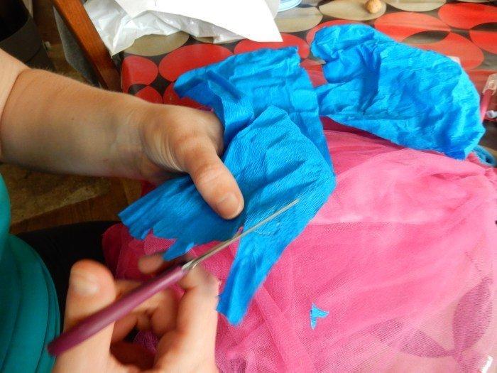 DIY Retour en enfance : Veilleuse Princesse Poppy-préparation du bandeau