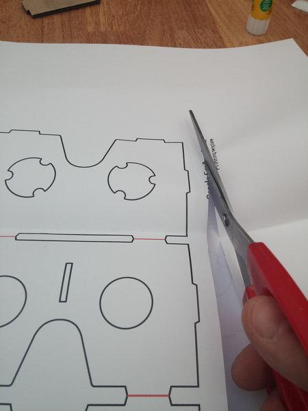 Lunettes de réalité virtuelle en carton-Cas 2 : vous n'avez pas de découpeuse laser
