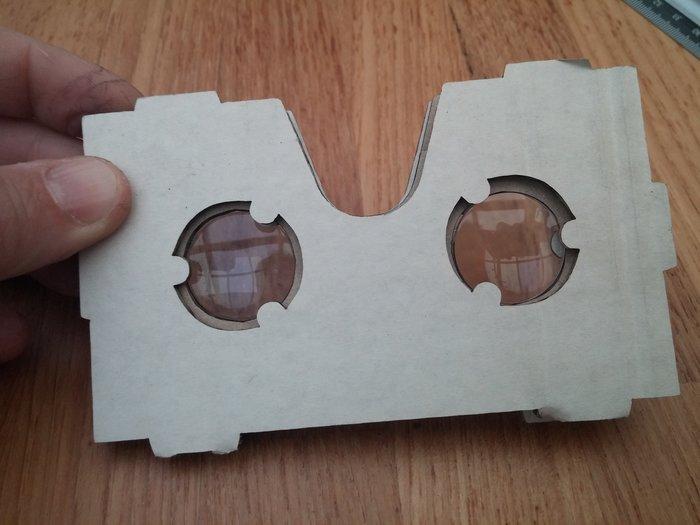 Lunettes de réalité virtuelle en carton-Pliage du masque et lentilles