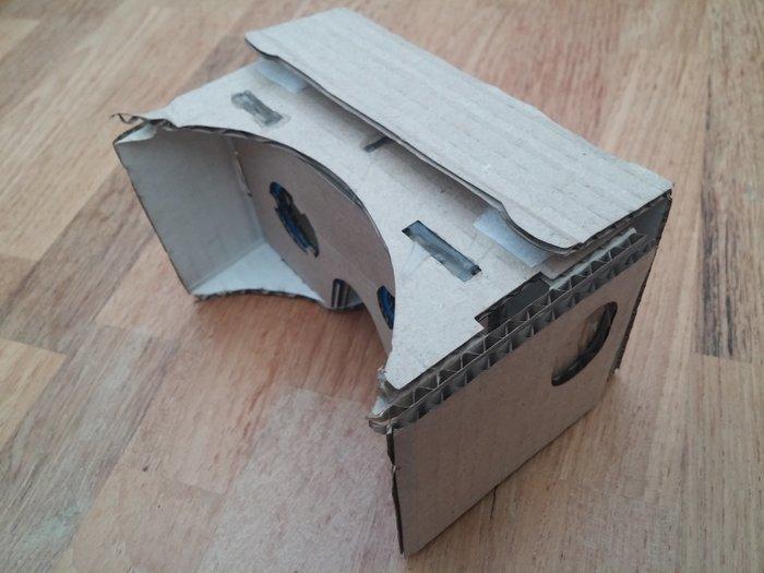 Lunettes de réalité virtuelle en carton-Pose du scratch pour la partie amovible