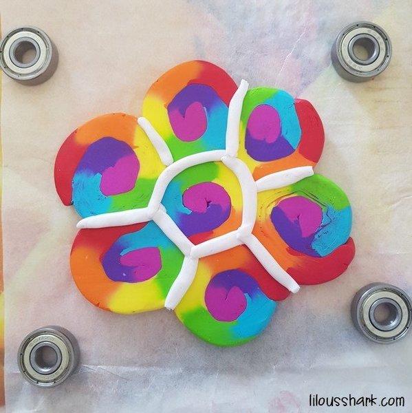 DIY : Mon Hand Spinner Rainbow en Fimo -On comble les trous