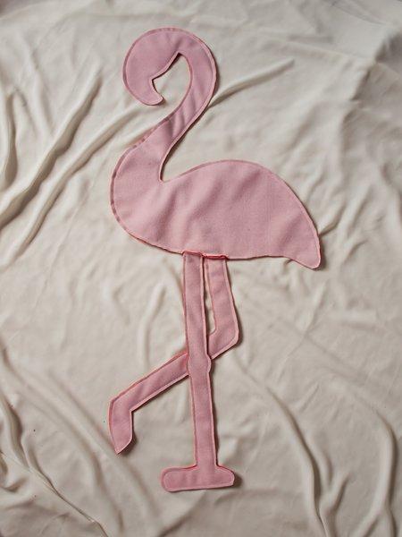 Coussin flamant rose #CocoCrea8-Couture et retournement du coussin