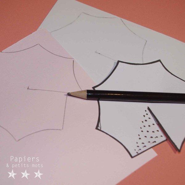 De chics ombrelles à Cocktail ! #CocoCrea9-Découper la forme de l'ombrelle