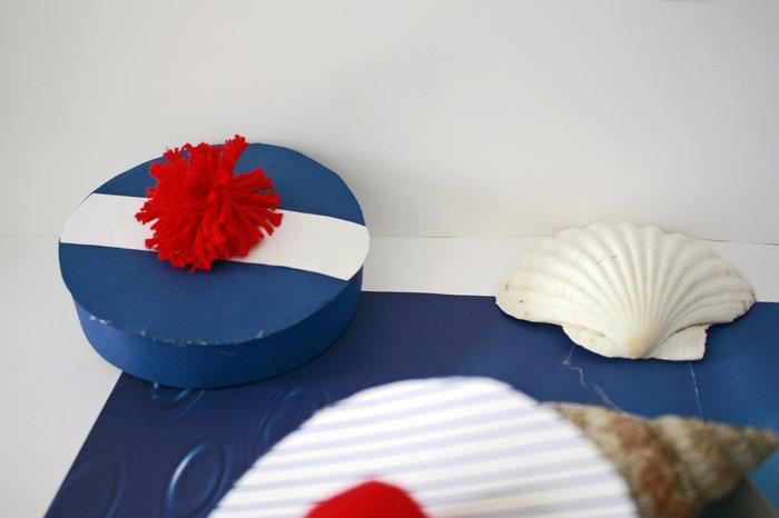 """Inspiration marine et boîtes """" béret de marin """" -Remplissez vos boîtes"""