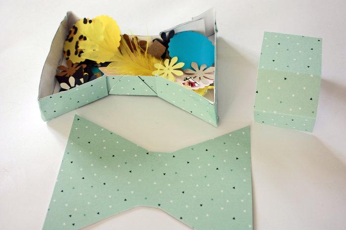 """Fabriquer des boîtes """"noeud papillon""""-Remplissez votre boîte"""