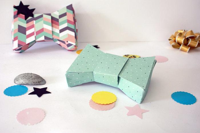 """Fabriquer des boîtes """"noeud papillon""""-Finalisez"""