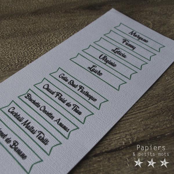Marque-verres et Pic-plats ! #CocoCrea13-Personnaliser et finaliser les marques-verres