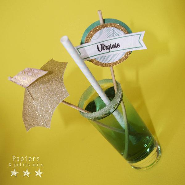 Marque-verres et Pic-plats ! #CocoCrea13-Le titre de votre étape ici