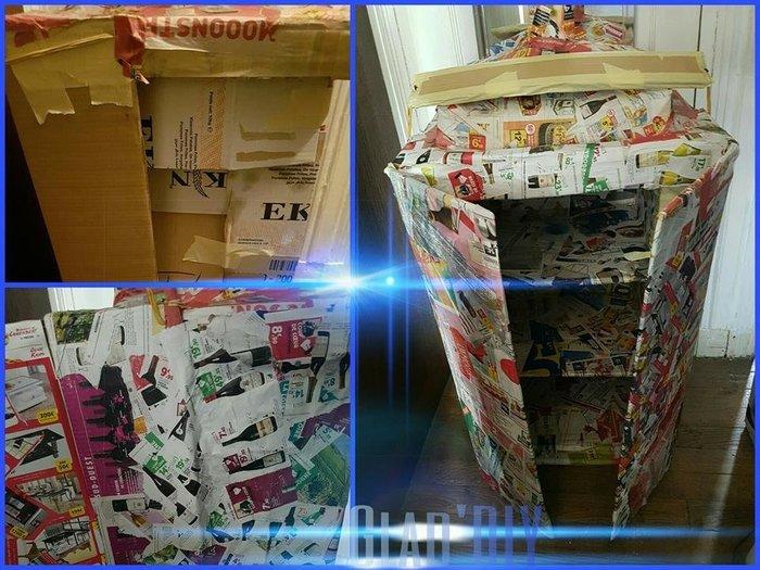 T.A.R.D.I.S. fait maison :-Portes, pancarte et autres rajouts.