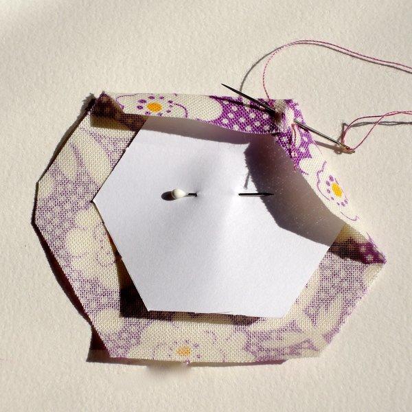 Un cadre en patchwork: DIY -Emballage de l'hexagone