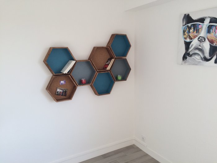 Des étagères hexagonales-Fin