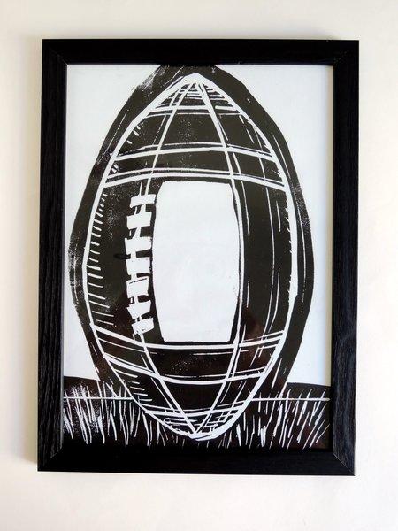 DIY : Linogravure autour du rugby !-Finitions