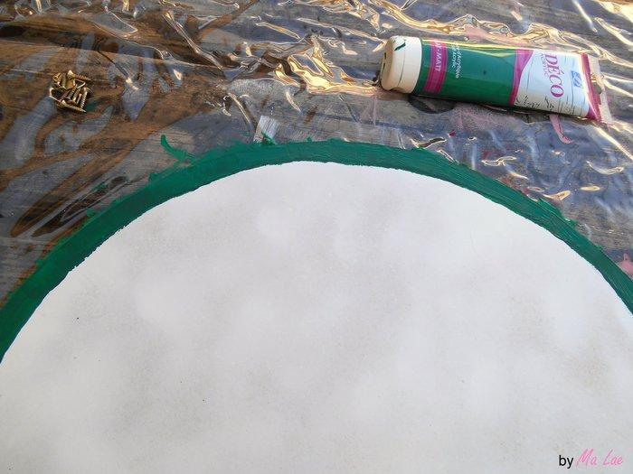 Plateau Pastèque #CocoCrea15-Peinture verte