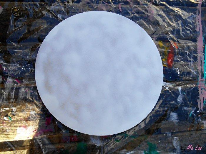 Plateau Pastèque #CocoCrea15-Peinture sous couche