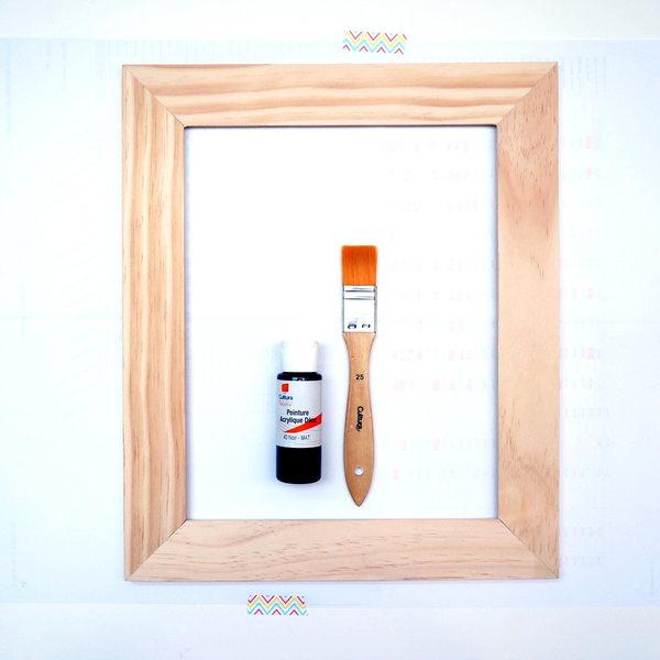 """Un vase mural dans un cadre-Décorer le cadre façon """"tableau noir"""""""