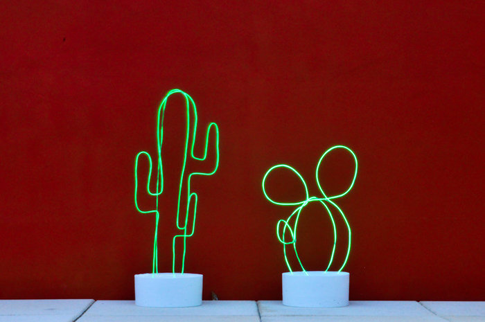 Un cactus lumineux en néon / DIY-Aziz lumière!